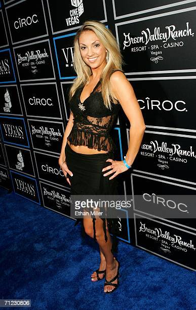 Model Colleen Kennedy arrives at the Vegas Magazine third anniversary party at the Green Valley Ranch Station Casino during the CineVegas film...
