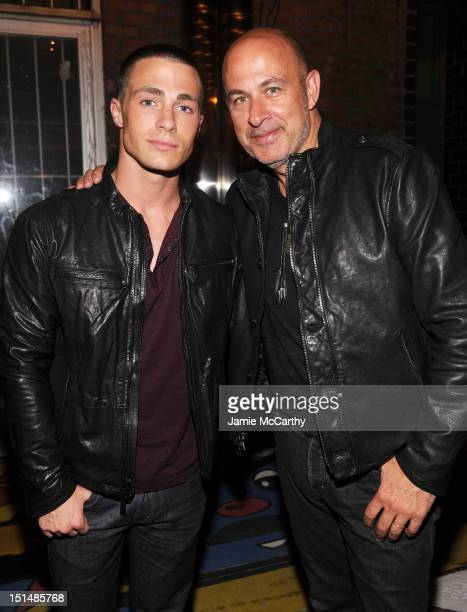 Model Colton Haynes and fashion designer John Varvatos attend John Varvatos and Converse's Fashion Week celebration and launch of The Weapon on...