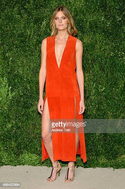 Model Constance Jablonski attends the 12th annual CFDA/Vogue Fashion Fund Awards at Spring Studios on November 2 2015 in New York City