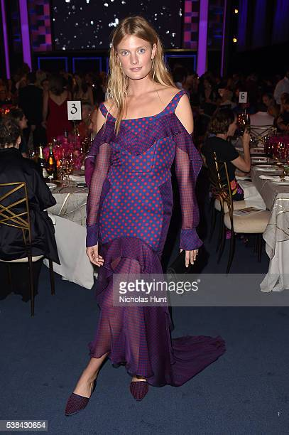 Model Constance Jablonski attends the 2016 CFDA Fashion Awards at the Hammerstein Ballroom on June 6 2016 in New York City