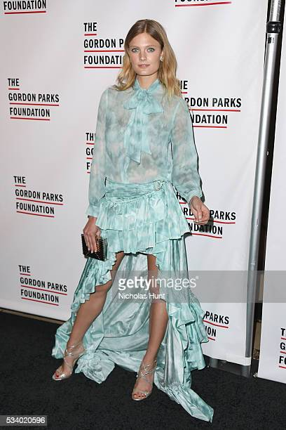 Model Constance Jablonski attends the 2016 Gordon Parks Foundation awards dinner at Cipriani 42nd Street on May 24 2016 in New York City