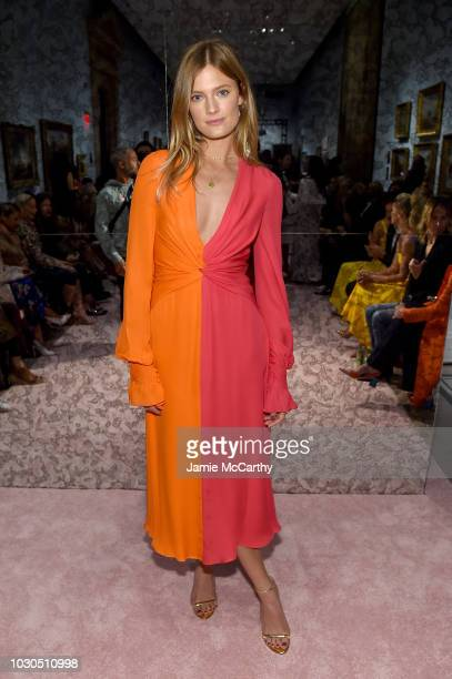 Model Constance Jablonski attends the Carolina Herrera front row during New York Fashion Week The Shows on September 10 2018 in New York City