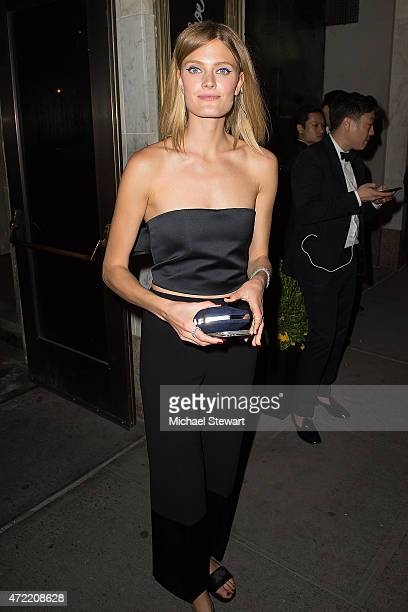 Model Constance Jablonski attends the 'China Through The Looking Glass' Costume Institute Benefit Gala after party at the Diamond Horseshoe at the...