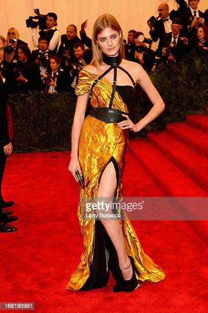 """Model Constance Jablonski attends the Costume Institute Gala for the """"PUNK: Chaos to Couture"""" exhibition at the Metropolitan Museum of Art on May 6,..."""