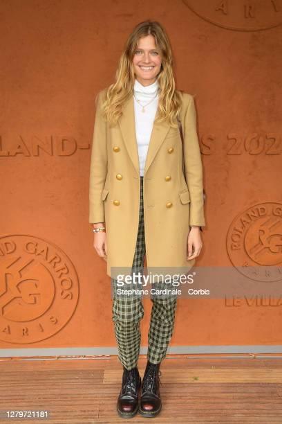Model Constance Jablonski attends the Men Final of the 2020 French Open at Roland Garros on October 11, 2020 in Paris, France.
