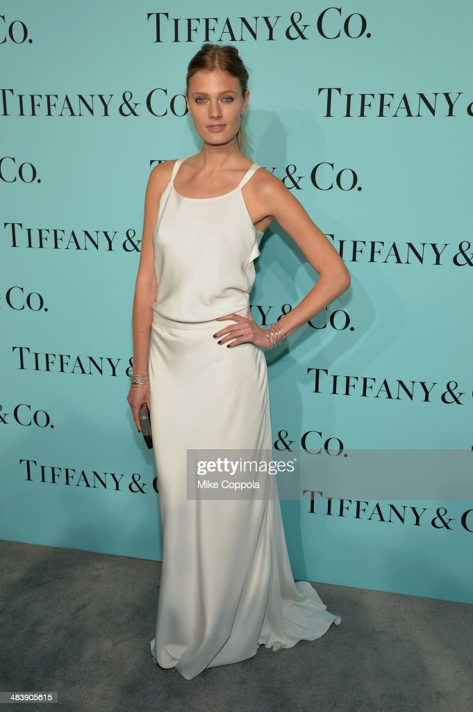 Model Constance Jablonski attends the Tiffany Debut of the 2014 Blue Book on April 10, 2014 at the Guggenheim Museum in New York, United States.