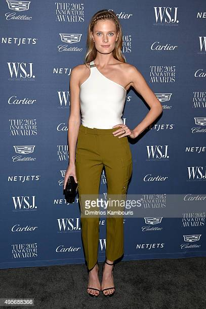 Model Constance Jablonski attends the WSJ Magazine 2015 Innovator Awards at the Museum of Modern Art on November 4 2015 in New York City