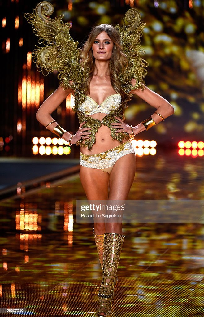 Model Constance Jablonski walks the runway at the annual Victoria's Secret fashion show at Earls Court on December 2, 2014 in London, England.