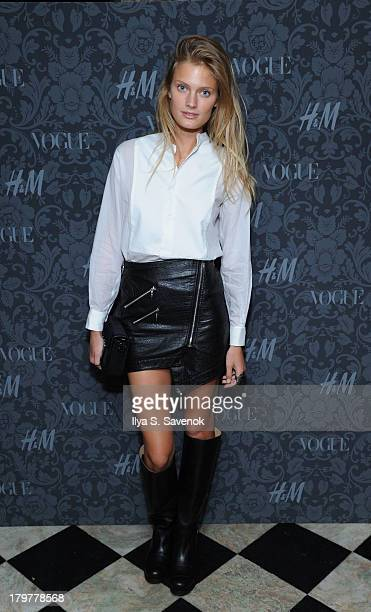 Model Constance Jablonski wearing HM attends HM Vogue Studios Celebrate Between The Shows on September 6 2013 in New York City
