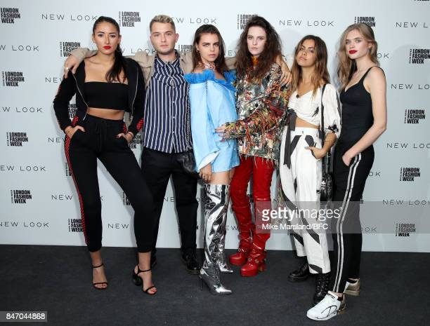 Model Cora Corre Rafferty Law model Bee Beardsworth mucisian Daisy Maybe guest and model Ella Merryweather attend the New Look and the British...