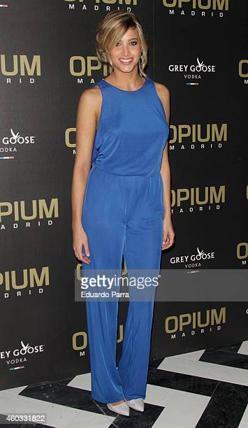 Model Corina Randazzo attends the 'Opium Madrid' Night Club opening on December 11 2014 in Madrid Spain