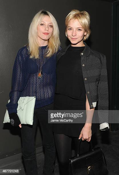 Model Cory Kennedy and actress Annabelle Dexter Jones attend the Charlotte Ronson Fall / Winter 2014 Presentation at The Hub at The Hudson Hotel on...