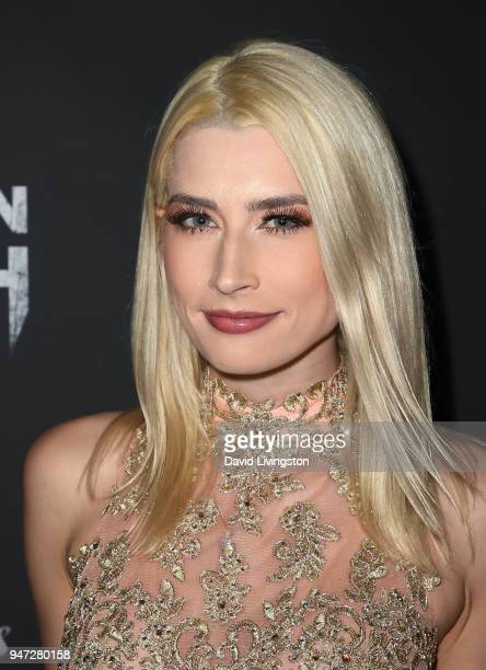 Model Courtney Anne Mitchell attends the Corbin Nash premiere screening at The Montalban on April 16 2018 in Hollywood California