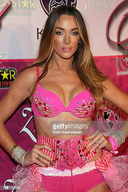 Model Courtney Binghm attends the 8th Annual Kandyland An Evening Of Decadent Dreams on August 17 2013 in Beverly Hills California