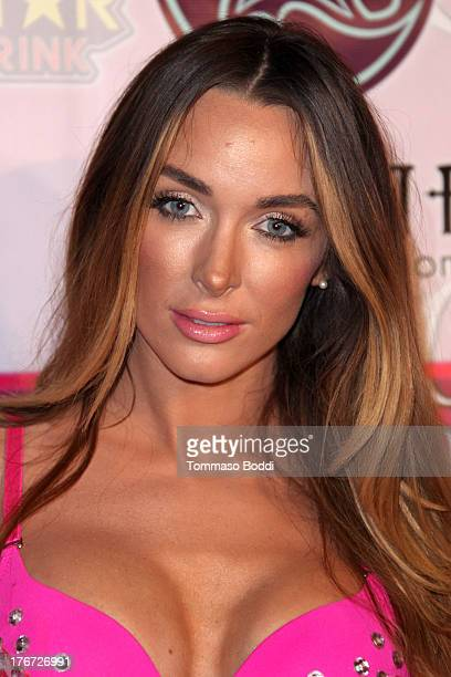Model Courtney Binghm attends the Karma International presents Kandyland 2013 An Evening Of Decadent Dreams benefiting of Generation Rescue on August...