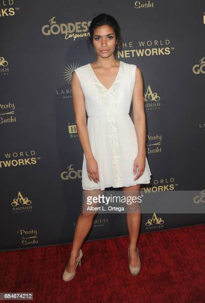 Model Courtney Price arrives for The World Networks Presents Launch Of The Goddess Empowered held at Brandview Ballroom on May 17 2017 in Glendale...