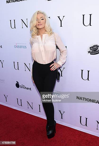 Model Courtney Stodden attends the world premiere of UNITY at the DGA Theater on June 24 2015 in Los Angeles California