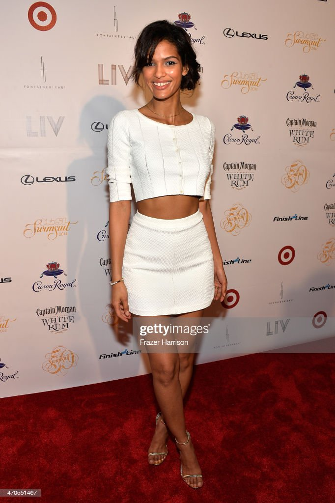 Model Cris Urena attends Club SI Swimsuit at LIV Nightclub hosted by Sports Illustrated at Fontainebleau Miami on February 19, 2014 in Miami Beach, Florida.