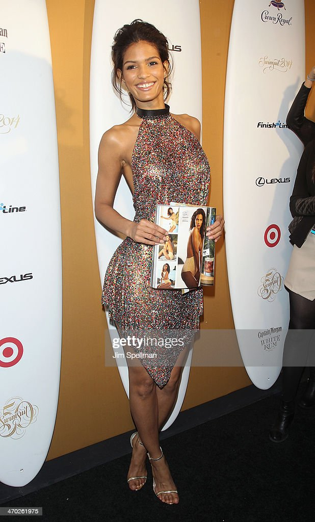 Model Cris Urena attends the Sports Illustrated Swimsuit 50th Anniversary Party at Swimsuit Beach House on February 18, 2014 in New York City.