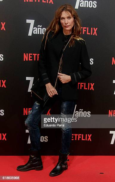 Model Cristina Piaget attends the '7 anos' photocall at Capitol cinema on October 27 2016 in Madrid Spain