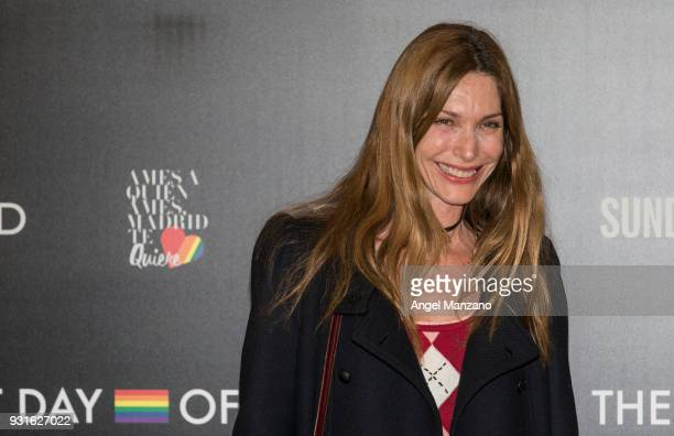 Model Cristina Piaget attends 'The Best Day Of My Life' Madrid premiere at Callao cinema on March 13 2018 in Madrid Spain