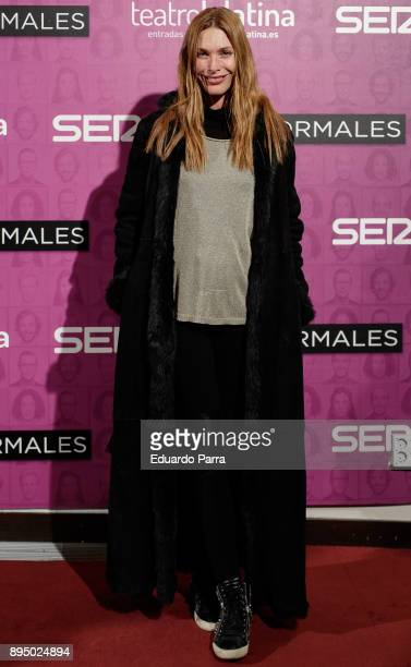Model Cristina Piaget attends the 'Casi normales' premiere at La Latina theatre on December 18 2017 in Madrid Spain