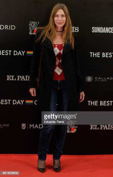 Model Cristina Piaget attends the 'The Best Day of My Life' premiere at Callao cinema on March 13 2018 in Madrid Spain