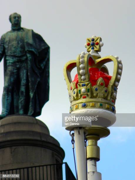 Model Crown on a pole next to Duke of York Column