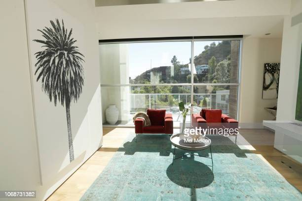 Model Crystal Hefner's modern contemporary home is photographed for Los Angeles Times on October 15 2018 in the Hollywood Hills in Los Angeles...