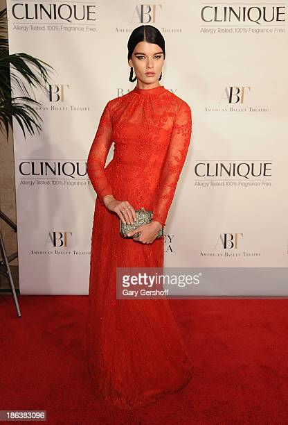 Model Crystal Renn attends American Ballet Theatre 2013 Opening Night Fall Gala at David Koch Theatre at Lincoln Center on October 30, 2013 in New...