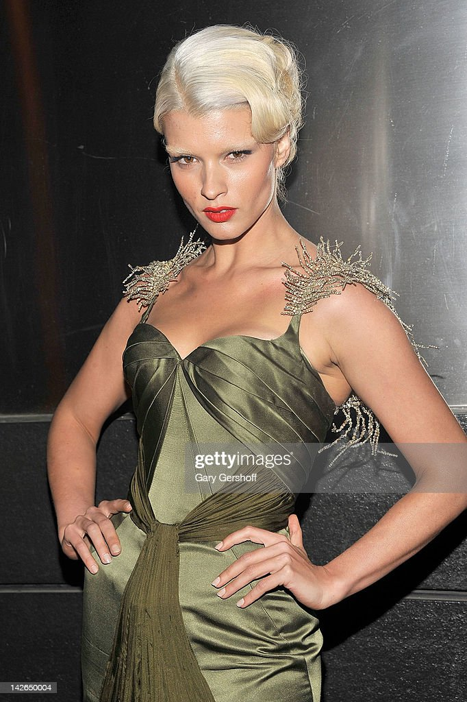 Model Crystal Renn attends the 9th annual Spring Dinner Dance New Year's In April: A Fool's Fete at the Mandarin Oriental Hotel on April 10, 2012 in New York City.