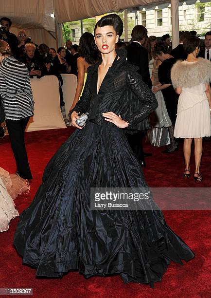 Model Crystal Renn attends the Alexander McQueen Savage Beauty Costume Institute Gala at The Metropolitan Museum of Art on May 2 2011 in New York City