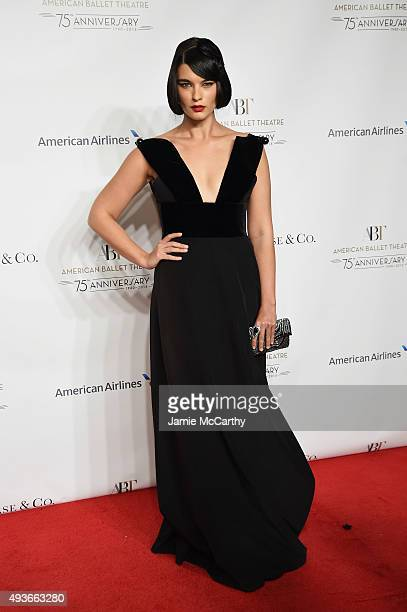 Model Crystal Renn attends the American Ballet 75th Anniversary Fall Gala at David H Koch Theater at Lincoln Center on October 21 2015 in New York...