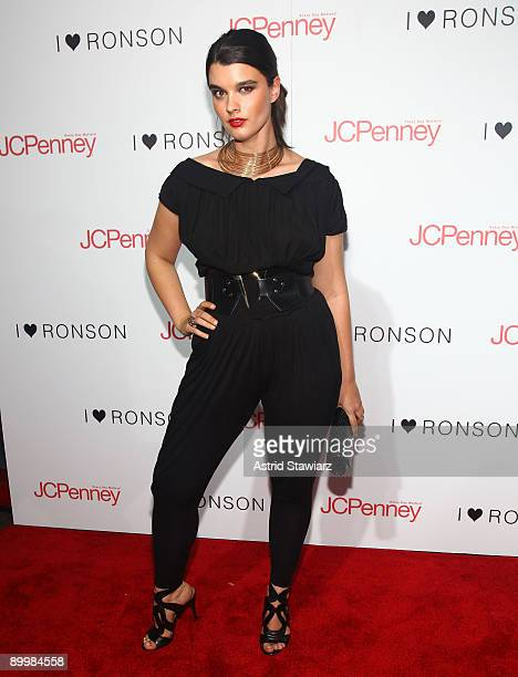 Model Crystal Renn attends the celebration of the I Heart Ronson collection on August 20 2009 in New York City