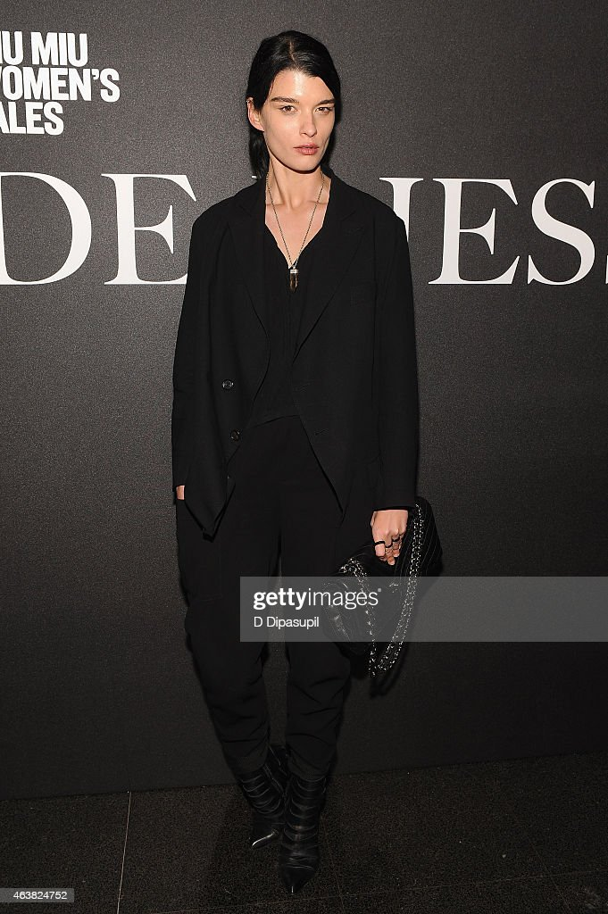 Model Crystal Renn attends the Miu Miu Women's Tales 9th Edition 'De Djess' screening on February 18, 2015 in New York City.