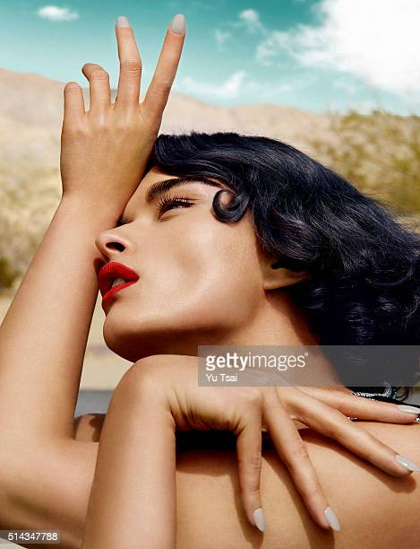Model Crystal Renn is photographed for a fashion editorial for Harper's Bazaar Singapore on May 8 2015 in Los Angeles California Published Image