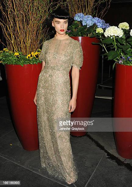 Model Crystal Renn wearing Valentino attends the New Yorkers for Children 10th Anniversary Spring Dinner Dance New Year's in April A Fool's Fete to...