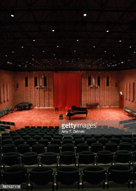 A model D Steinway concert piano acquired in 2008 is ready on stage at Turner Sims Concert Hall on the campus of The University of Southampton on...
