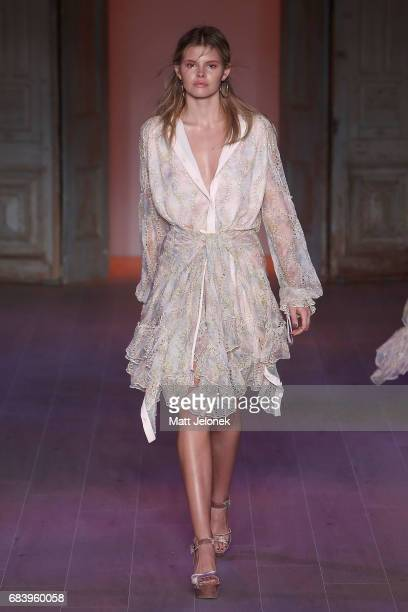 Model Daisy Davies the runway during the We Are Kindred show at MercedesBenz Fashion Week Resort 18 Collections at Carriageworks on May 17 2017 in...