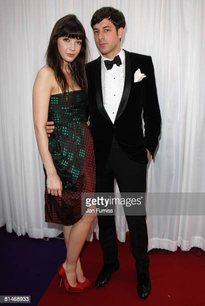 Model Daisy Lowe and music producer Mark Ronson attend the Glamour Women Of The Year Awards held at Berkeley Square Gardens on June 3, 2008 in...