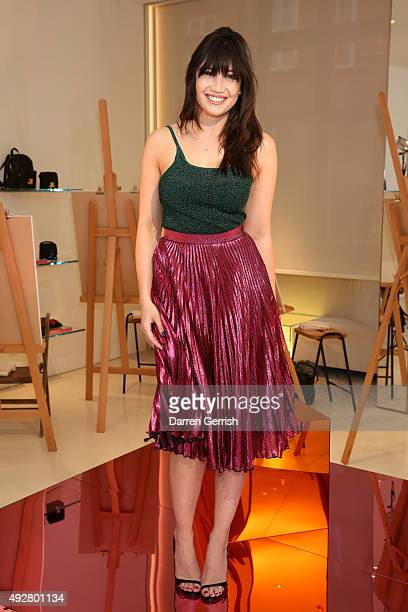 Model Daisy Lowe attends the Christopher Kane Art Class 2015 at Christopher Kane Flagship 6-7 Mount Street on October 15, 2015 in London, England.