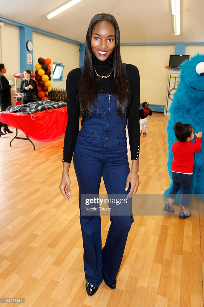 Damaris Lewis And Sesame Streets Valentine's Day Event Benefiting Garden Of Dreams