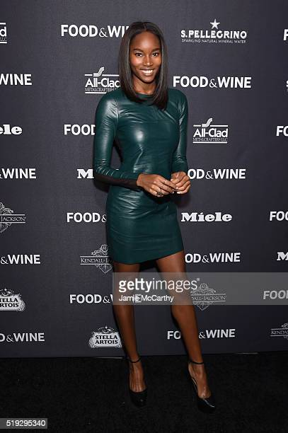 Model Damaris Lewis attends FOOD WINE 2016 Best New Chefs event on April 5 2016 in New York City
