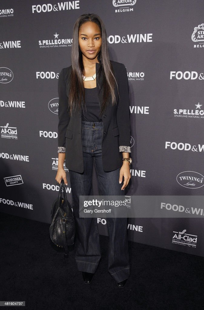 Model Damaris Lewis attends the 2014 FOOD & WINE Best New Chefs Party at Powerhouse at The American Museum of Natural History on April 1, 2014 in New York City.