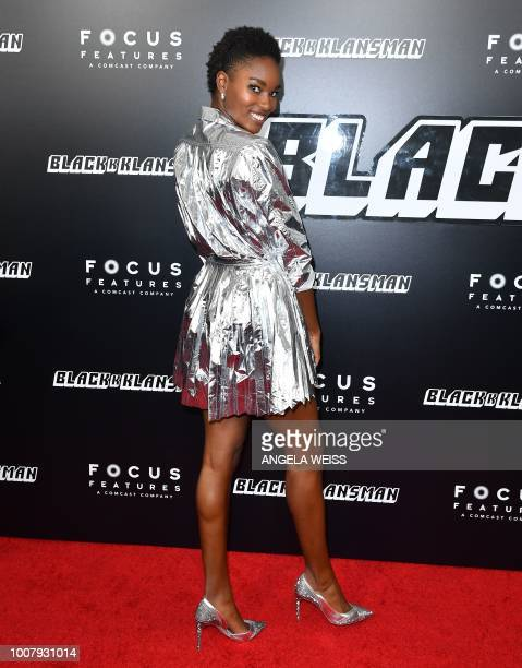 US model Damaris Lewis attends the 'BlacKkKlansman' New York Premiere at BAM Harvey Theater on July 30 2018 in Brooklyn New York
