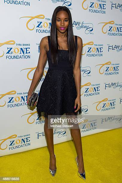 Model Damaris Lewis attends Tyra Banks' Flawsome Ball 2014 at Cipriani Wall Street on May 6 2014 in New York City