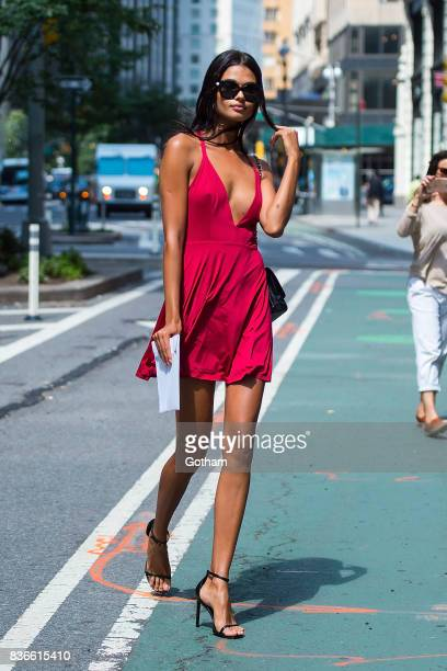 Model Daniela Braga attends call backs for the 2017 Victoria's Secret Fashion Show in Midtown on August 21 2017 in New York City