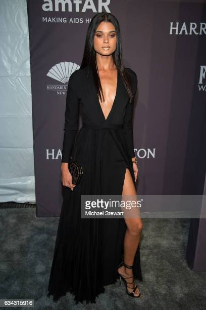 Model Daniela Braga attends the 19th Annual amfAR New York Gala at Cipriani Wall Street on February 8 2017 in New York City