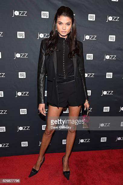 Model Daniela Braga attends the Jazz at Lincoln Center 2016 Gala 'Jazz and Broadway' honoring Diana and Joe Dimenna and Ahmad Jamal at Frederick P...