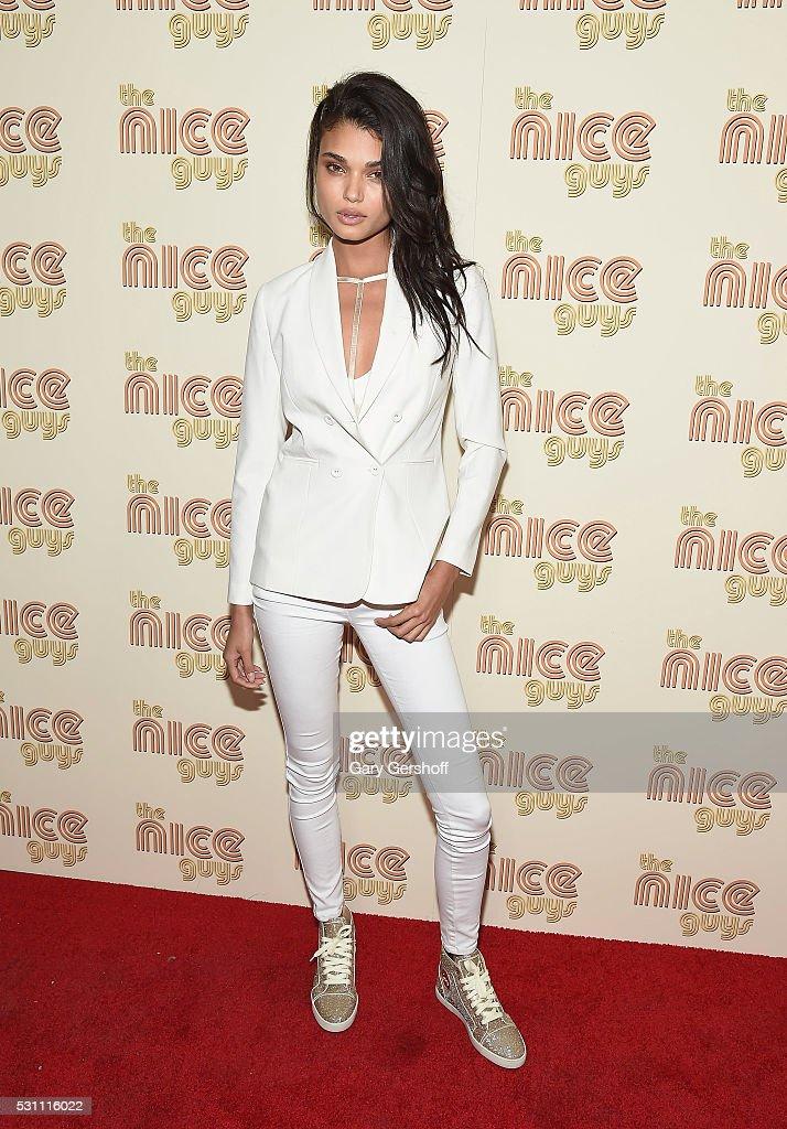Model Daniela Braga attends 'The Nice Guys' New York screening at Metrograph on May 12, 2016 in New York City.